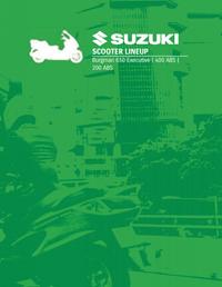 Suzuki Scooter Lineup