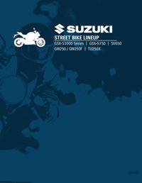 Suzuki Street Bike Lineup